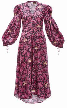 バラ柄ワンピースドレス