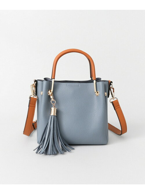 ブルーのミニトートバッグ