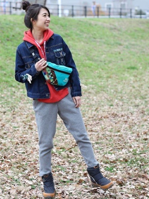 防寒ブーツコーデ1